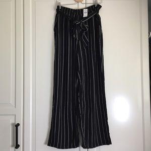 American Eagle Striped Paper-bag Pants